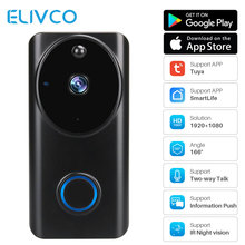 Tuya 1080P WiFi видео дверной звонок умный видео домофон приложение управление телефонным звонком дверной звонок домашний монитор безопасности камера ночного видения