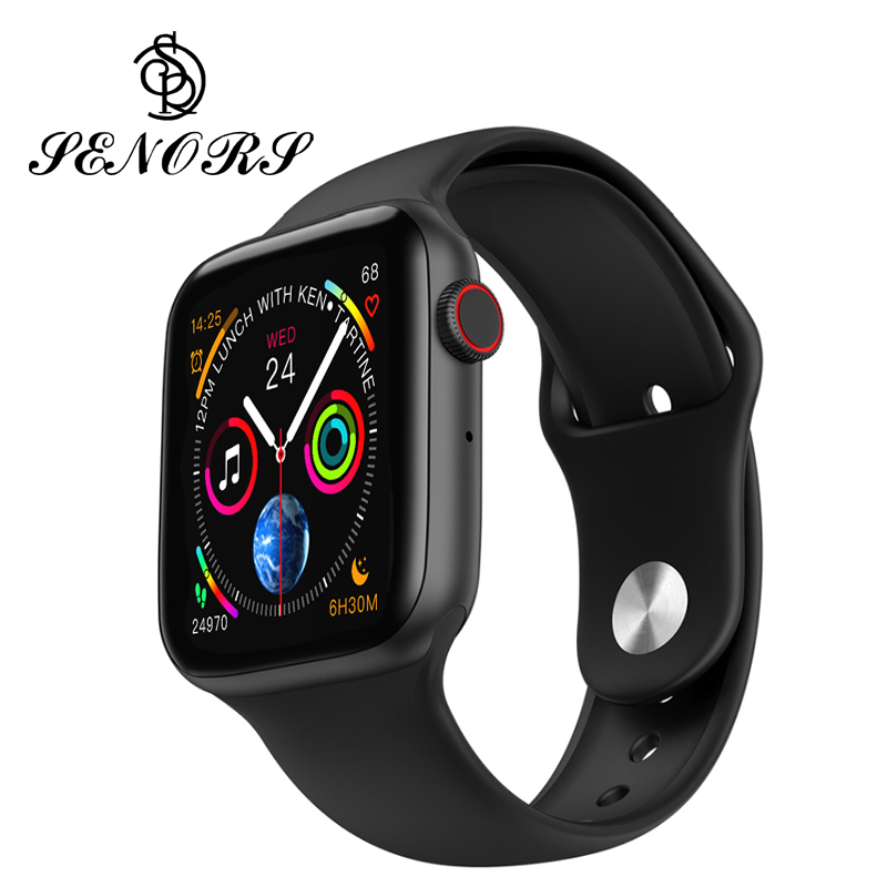 SENORS W34 Smart Watch Men Women ECP PPG <font><b>Smartwatch</b></font> Pedometer Heart Rate Blood Pressure <font><b>iwo</b></font> <font><b>8</b></font> Lite Smart Watch For IOS Android image