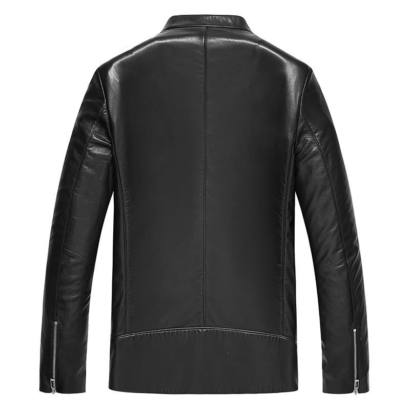 Genuine Leather Autumn Winter Real Sheepskin Coat For Men Streetwear Motorcycle Jacket JLK18KD18603 MY1945