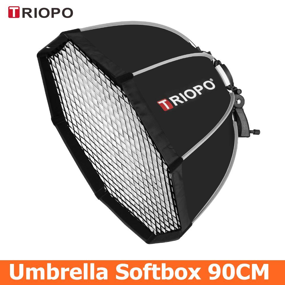 TRIOPO 90cm Octagon Umbrella Softbox with Honeycomb Grid For Godox Flash speedlite photography studio accessories soft Box
