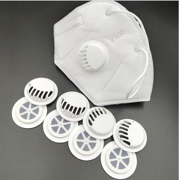 100pcs Black White Breather Valves Dustproof Breathing Filters Plastic Valve For Face Mouth Face Guard Spare Parts