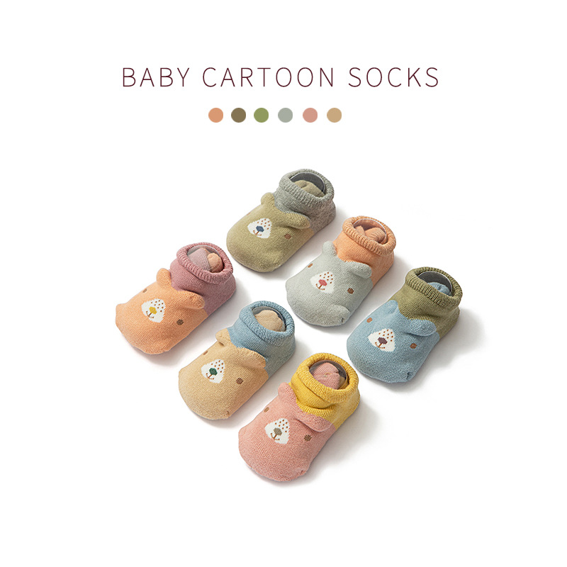 Baby Slip Socks Infant Girls Children Floor Socks 6-12 Months Spring And Autumn Socks Male Cotton A Class Early Education Unlimi