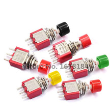 5 шт. 3Pin C-NO-NC 6 мм мини мгновенный автоматический возврат кнопочный переключатель вкл-(ВКЛ) 2A 250VAC/5A 120VAC тумблеры