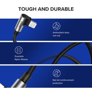 Image 3 - Câble USB Ugreen pour iPhone 12 Mini Pro Max 2.4A câble de données de Charge rapide pour iPhone X 11 8 câble de chargeur de téléphone portable