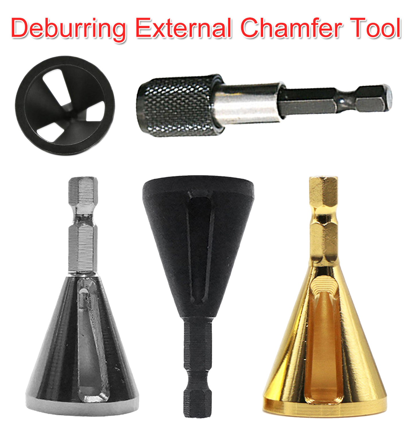 Deburring External Chamfer Tool 1/4 Hex Stainless Steel Remove Burr Tool Drill Bit For Stainless Steel/ Wood High Hardness