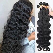 Волнистые пряди для наращивания, 100% человеческие волосы, бразильские волосы Remy для наращивания, предложения для черных женщин 28 30 дюймов 3 4 ...