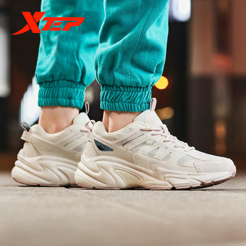 Xtep Women's Casual Shoes Summer Sports Chunky Sneakers Shoes Women's Breathable Casual Old Sneakers 881318329127 5