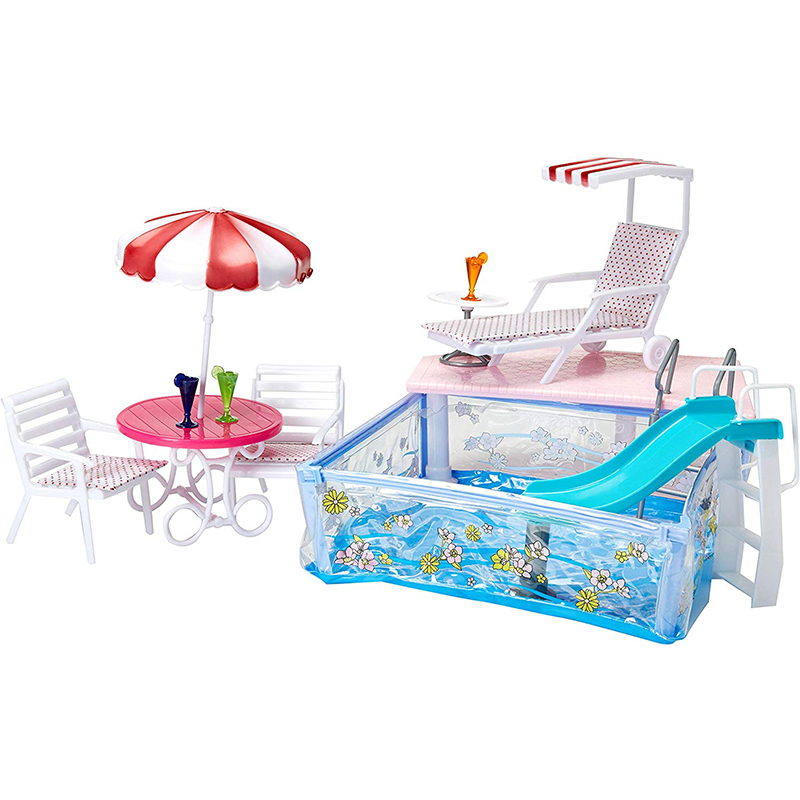 Water Fun Swimming Pool For Barbie House Summer Resort Playset Dollhouse Furniture Accessories Best Girl Gift