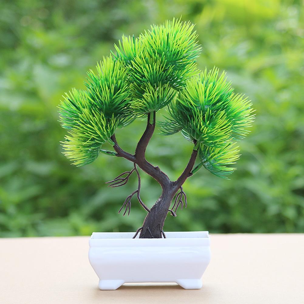 Artificial Pine Tree Plant Potted Bonsai Wedding Party Desktop Furniture Decor artificial plants home decoration