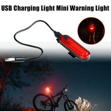 Bicycle Taillight Waterproof Rear USB Charging COB Highlight Safety Warning Light Outdoor Riding  Accessories For MTB Bike usb charging led bicycle light 5 light mode highlight waterproof warning bike light to send free usb cable suit for night riding