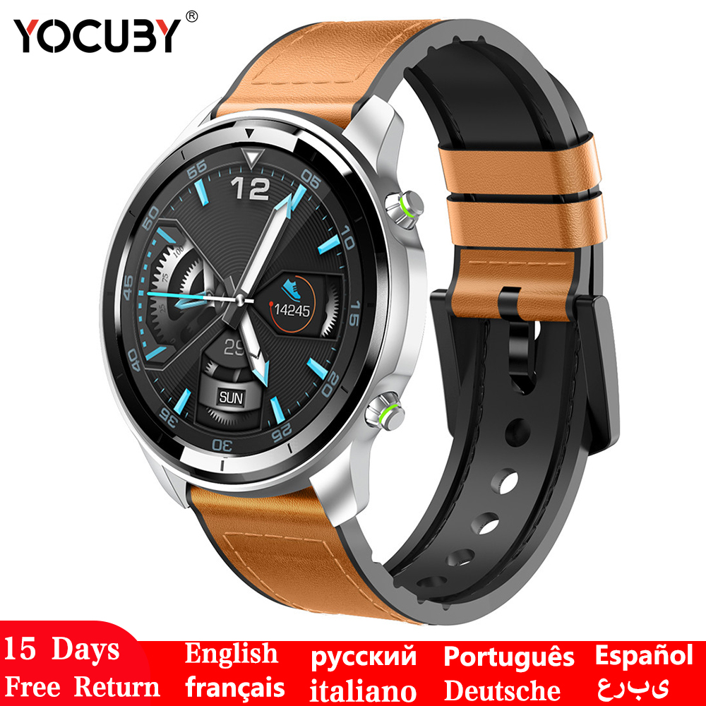 Smart Watch Wearable Devices Men HD Screen Smartwatch Blood Pressure Measure Fitness Tracker Wireless Charge Watch Smart H15