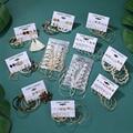 ZOVOLI 6 пар 2020 женские золотые большие круглые серьги-кольца для женщин круглые серьги набор винтажные обручи серьги
