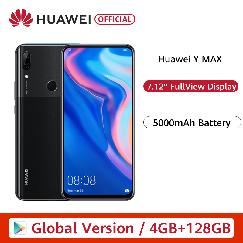Global Version Huawei Y MAX 4GB 128GB Smartphone 16MP Dual AI Rear Cameras 7.12