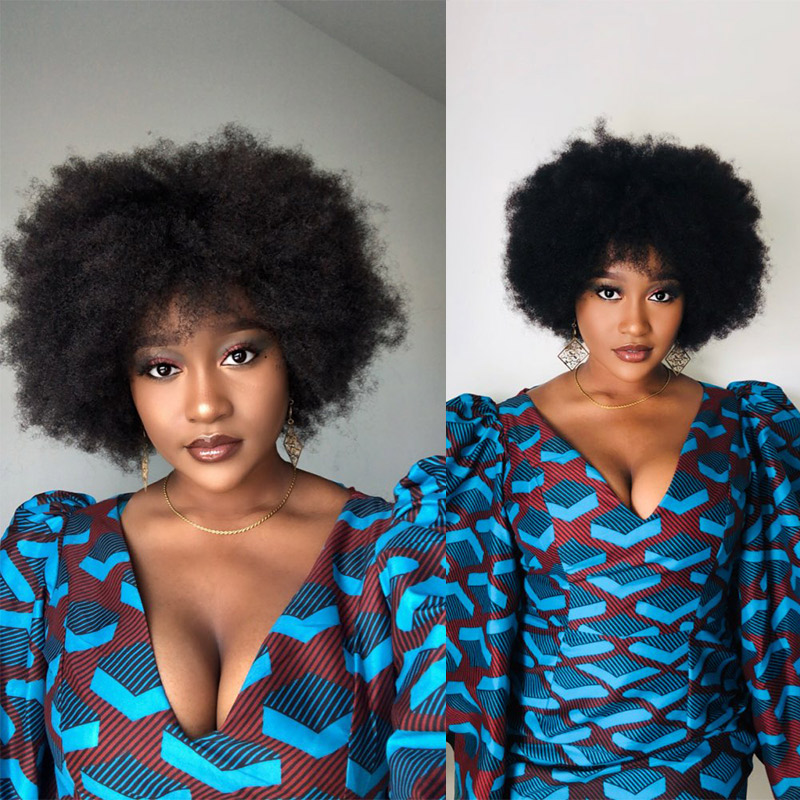Mongolian Afro Kinky Curly Lace Front Human Hair Wigs Pre Plucked Short Human Hair Lace Front Bob Cut Wigs Ever Beauty Remy