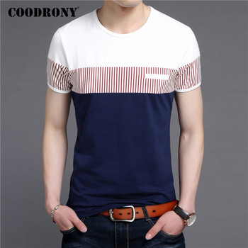 COODRONY Short Sleeve T Shirt Men Summer Casual Cotton Tee Shirt Homme Streetwear Fashion Color Patchwork O-Neck T-Shirt C5088S mardi gras princess new orleans nola bouron street party costume womens t shirt short sleeve o neck t shirt homme top tee