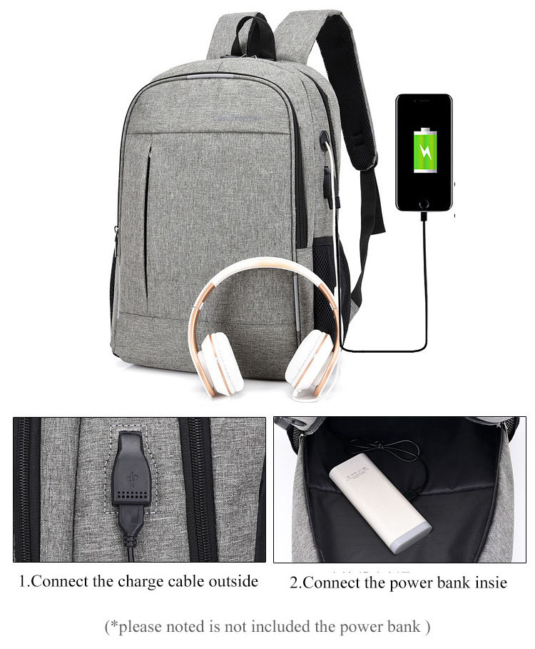 Image 2 - Anti Theft Man Backpack USB Charged laptop Large bagpack Travel Bag For Men School Student Boy girls mochila hombre 2019-in Backpacks from Luggage & Bags