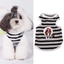 Vest Shirt Puppy Dogs Pet Summer Small Stripes Cotton Sleeveless for Cats And Pet-Clothing