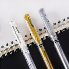 3 pçs grande caneta de gel branco 1mm à prova dwaterproof água ouro e prata marcador caneta esboço desenho arte marcadores design cómico forro caneta