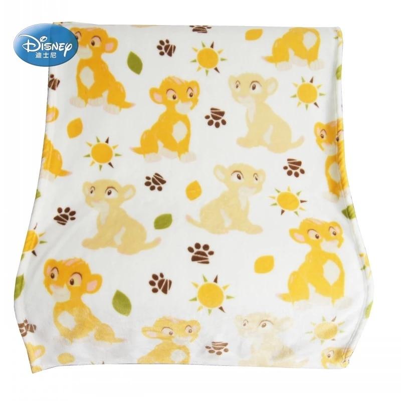 Disney White and Yellow Simba Lion King Nala Warm Flannel Blanket for Toddler Baby Boys Girls Kids Child  Christmas Gift