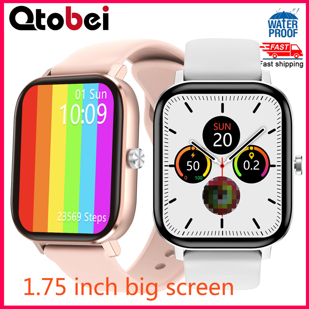 1 75 Inch IPS Screen Smart Watch Men Women ECG Heart Rate Blood Pressure Monitor Smartwatch Waterproof Watch For Android Iphone