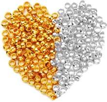 Perles à sertir de positionnement, 2000 pièces/lot, Mini entretoise pour la fabrication de bracelets de bijoux, choix de 2mm de diamètre, 6 couleurs