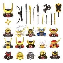 Wm6090 wm6096 samurai animação robô assassino filme série personagens figuras cabeça arma acessórios bloco de construção brinquedos