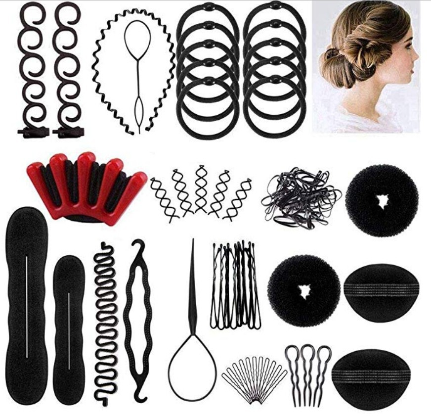 25pcs/set Magic Hair Bun Maker Hairband Hair Accessories Women Girls Plate Pull Pins Styling Holder Quick Dish Headband G0116