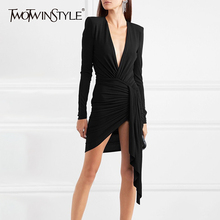 TWOTWINSTYLE Slim Women Dress