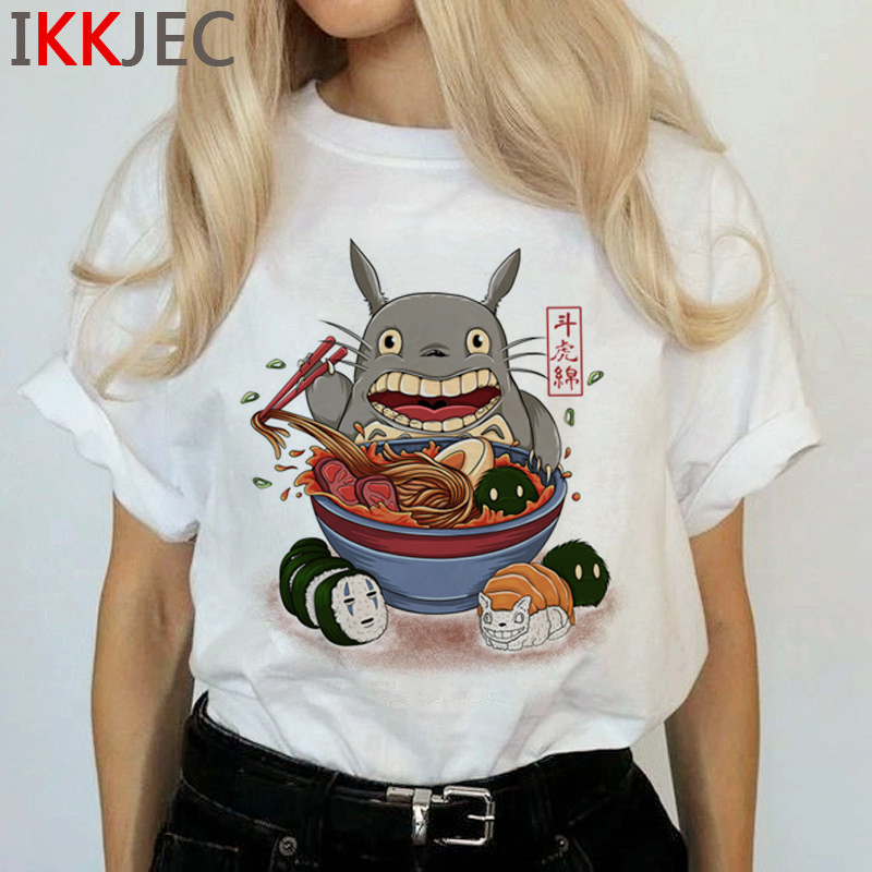 Totoro Harajuku Studio Ghibli T Shirt Women Miyazaki Hayao Ullzang Cute T-shirt Funny Cartoon Tshirt 90s Graphic Top Tees Female 17