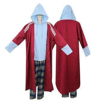 Película traje de Thor Endgame Fat Thor Red Trench Pants Camisa con capucha Cosplay disfraces de Halloween para hombres adultos