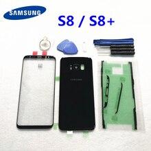 סמסונג גלקסי S8 G950 S8plus G955 אחורי סוללה כיסוי דלת אחורי שיכון S8 + מול מסך זכוכית עדשת G950F G955F/DS