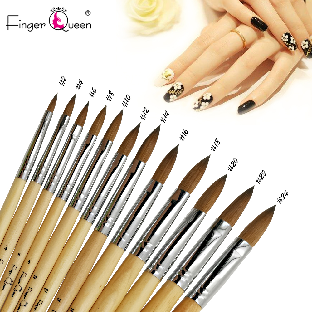 1pcs Crystal Carving Pen 100%pure Kolinsky Acrylic Nail Brush Suitable For Professional Salon Or Home Use Nail Brush