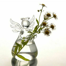 Pots Terrarium-Container Flower-Vase Hanging-Vase Wedding-Decor Glass Angel-Shape Floral-Plant