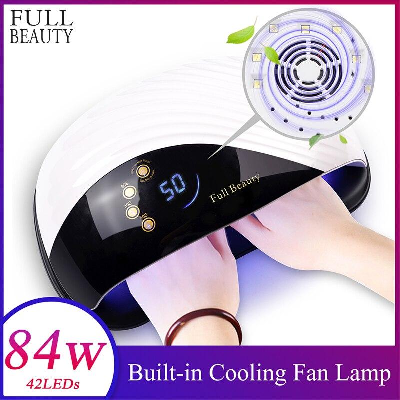 84W Led Lampe Nagel Maniküre 2 in 1 Eingebaute Lüfter für Zwei Hände 10s Schnelle Nagel Trockner maschine Aushärtung Alle Arten von Gel CHMDone