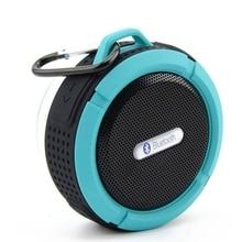 ميكرفون بلوتوث محمول C6 دش مقاوم للماء الهاتف يدوي مكبرات الصوت مع مصاصة كأس هوك TF بطاقة مشغل موسيقى