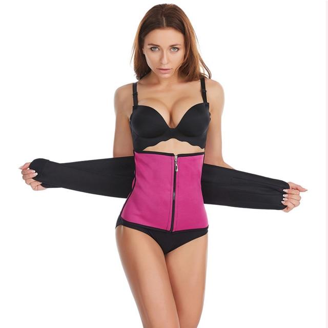 Neoprene Waist Trainer Body Shaper Belt Women Slimming Sheath Belly Reducing Shaper Tummy Sweat Shapewear Workout Shaper Corset 3
