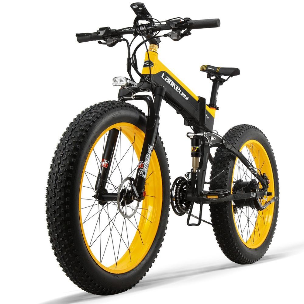 Ce Certificate Long Cycling Rangefolding Ebike 26inch Fat Tire Mountain Bike 48V Bicycle Electric Bike 1000W Powerful Cheap