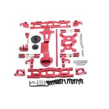 Para wltoys 1:14 144001 rc carro completo atualizar peças de reposição metal c assento de direção copo braço oscilante eixo acionamento central