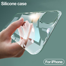 Luxus Silikon Stoßfest Fall auf Für iPhone 11 X Xr Xs Pro Max Fall iPhone 7 8 Plus 5 5s SE 6 6s 4 Weiche Transparente Fall Abdeckung(China)