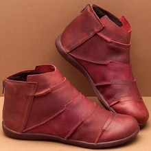 2019 New Hot Style Fashion Women Boots Round Head Thick Bottom Pu Leather Waterproof Woman Ankle Spring Autumn