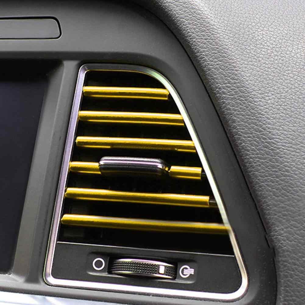 10Pcs Auto Car Air Outlet Vent Grille ตกแต่งภายในสติ๊กเกอร์ Decals Strip อุปกรณ์เสริมรถยนต์อุปกรณ์เสริม