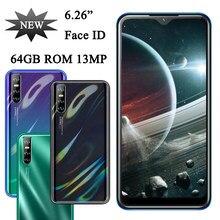 Smartphones 8c face id 4g ram 64g rom quad core 6.26 water drop água gota tela telefones celulares android desbloqueado original celulares telefone