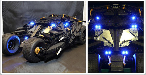 LED Light Up Kit  For Lego 76023 And 7111  Batman The Tumbler Blocks( Bricks  Set Not Inlcuded)