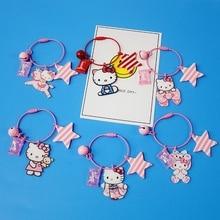 Мультфильм Аниме Привет кимоно Kitty конфеты животных брелок для девочек женщин брелок сумка Подвеска Шарм Детские игрушки D370