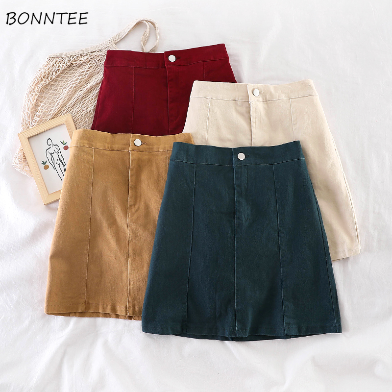 Skirts Womens Solid Candy Color Mini Skirt Empire Casual All-match Candy Color Trendy Retro Simple Basic Daily Popular Lovely