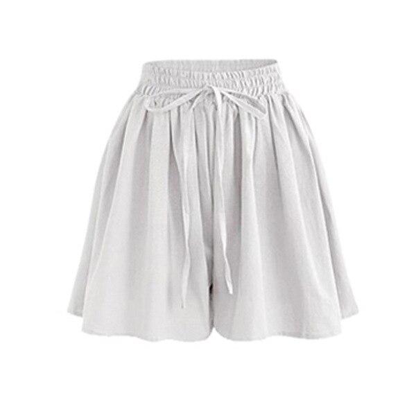 Large Size Wide Leg Shorts Women Xia Jiafei New Chiffon Hakama Fat Mm Elastic Waist Loose Wild Casual Pants  White