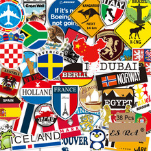 38Pcs/Set Luggage Stickers Set Countries Cities Travel Pegatinas Toys PVC Waterproof Decal  Fridge Skateboard Room Decorate