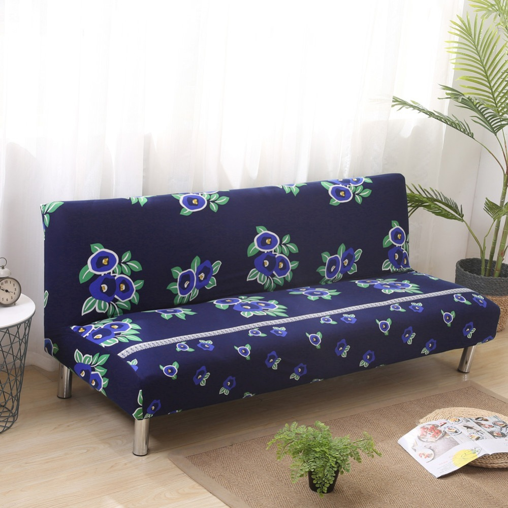 Flower Slipcover Sofa Cover Without Armrest Tightly All-inclusive Wrap Universal Seat Covers Sofa Cover Elastic Big Elasticity