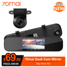 70mai Kaca Spion Dash Cam Mobil DVR 1600P HD 140FOV 70 MAI Cermin Perekam Video 24H Monitor Parkir malam Visi(China)