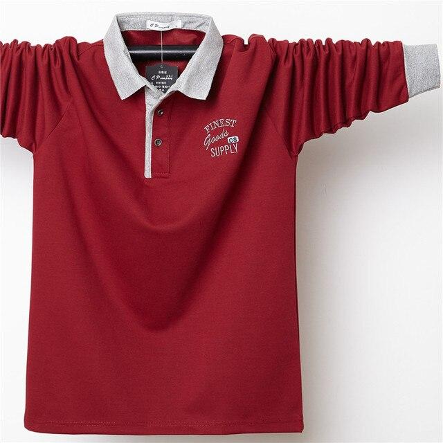 Купить мужская рубашка поло размера плюс 6xl 5xl с воротником осенняя картинки цена